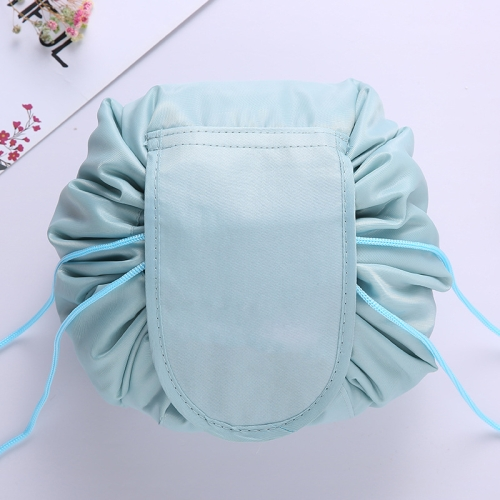 Travel Large Volume Drawstring Bag Cosmetic Sundries Storage Bag(Gray Blue)