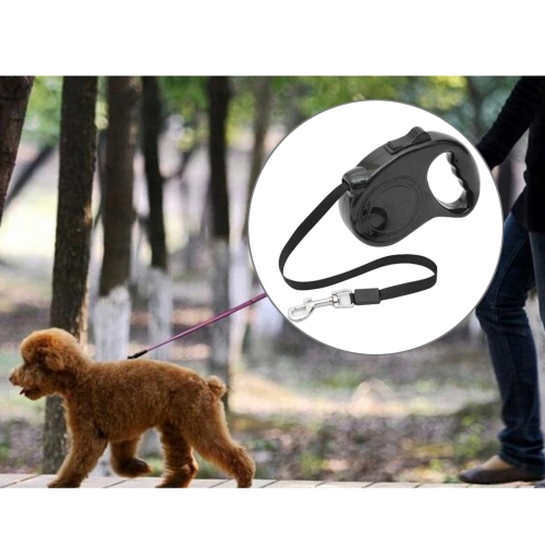 Buy Pet Retractable Leash Automatic Extending Pet Walking Leads, Length: 3m, Black for $3.84 in SUNSKY store