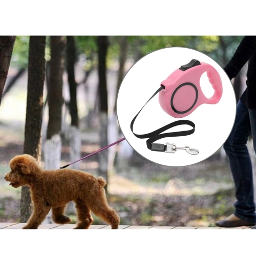 Buy Pet Retractable Leash Automatic Extending Pet Walking Leads, Length: 3m, Pink for $3.84 in SUNSKY store