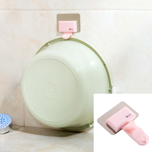 Buy Bathroom Creative Traceless Wall-Mounted Hook, Pink for $1.35 in SUNSKY store