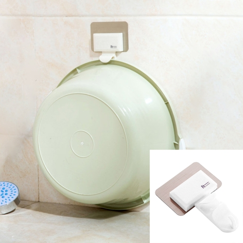 Buy Bathroom Creative Traceless Wall-Mounted Hook, White for $1.35 in SUNSKY store