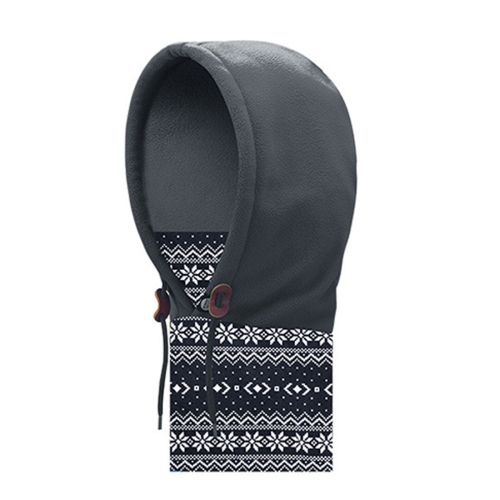Buy AONIJIE Unisex Windproof Anti-cold Hood Neck Scarf Winter Warmer Full Face Mask Thick Fleece Bomber Hat, Grey for $6.43 in SUNSKY store