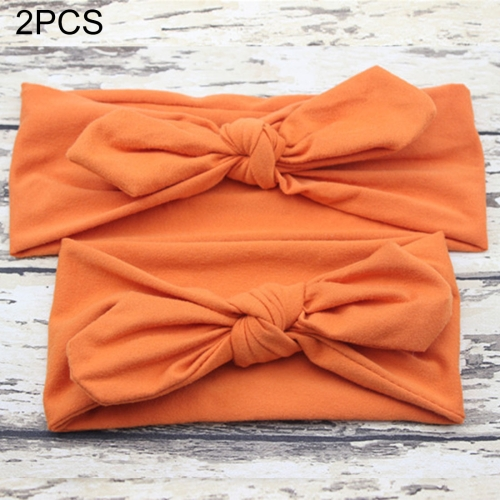 Buy 2 in 1 Mom and Baby Parent-child Creative Cute Bowknot Elastic Cotton Hair Band, Orange for $2.80 in SUNSKY store