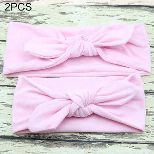 Buy 2 in 1 Mom and Baby Parent-child Creative Cute Bowknot Elastic Cotton Hair Band, Pink for $2.80 in SUNSKY store