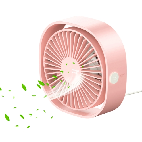 Baseus Desktop 360 Degree Rotation Powerful Wind 3 Speeds Quiet USB Cooling Personal Fan(Pink) a201 desktop mini cooling usb fan with 4 speed wind orange