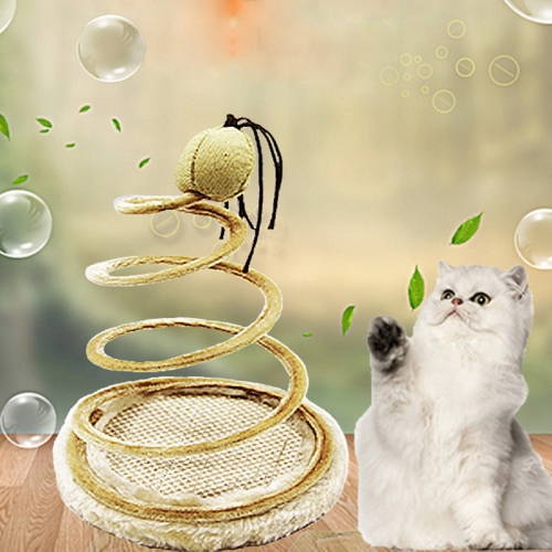 Fashion Plush Spring Plate Interaction Cat Toys, Pet Toys,Random Style Delivery