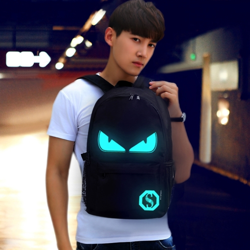 Buy Multi-Function Large Capacity Oxford Cloth Demon Luminous Backpack Casual Laptop Computer Bag with External USB Charging Interface for Men / Women / Student, M, Size: 43*26*12cm for $9.45 in SUNSKY store