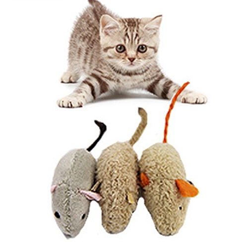 Buy 3 PCS Fashion Plush Artificial Mouse Interaction Cat Toys, Pet Toys for $1.69 in SUNSKY store