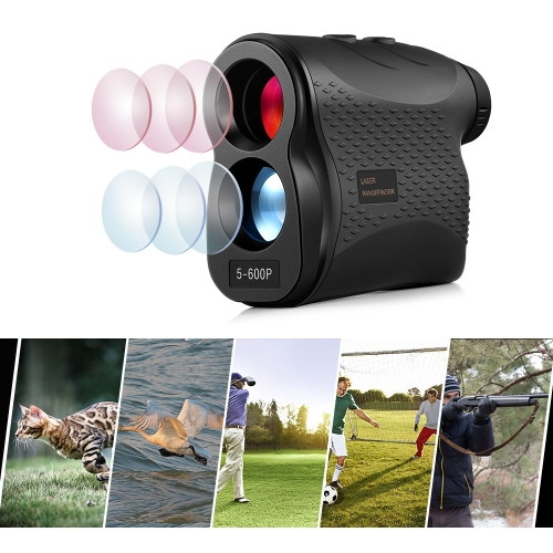 5-600P Handheld Golf Laser Distance Measuring Instrument Telescope Range Finder Distance Measurer, 600m