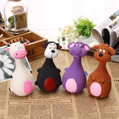 Buy Cute Cartoon Cat and Dog Sound Latex Pet Toys, Random Style Delivery for $1.96 in SUNSKY store