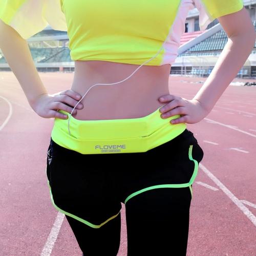 FLOVEME Outdoor Sports Running GYM Stretch Case Phone Waist Bag Size L 75-85cm, Green