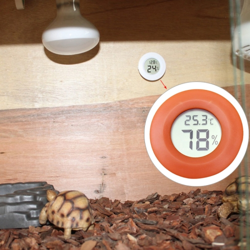 Buy Digital Round Shaped Reptile Box Centigrade Thermometer & Hygrometer with Screen Display, Orange for $2.71 in SUNSKY store