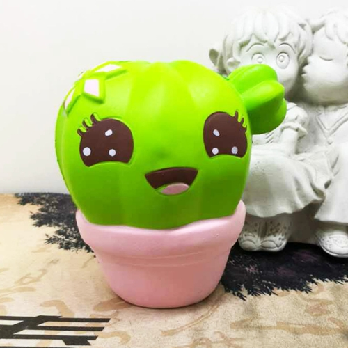 Buy Cartoon Cactus Style PU Slow Rebound Simulation Toy Stress Relief Healthy Gifts, Size: 10*8*7.8cm, Pink for $4.27 in SUNSKY store