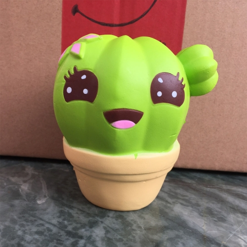 Buy Cartoon Cactus Style PU Slow Rebound Simulation Toy Stress Relief Healthy Gifts, Size: 10*8*7.8cm, Yellow for $4.27 in SUNSKY store