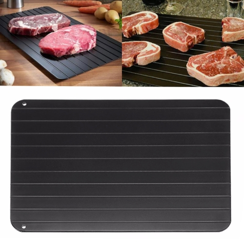 Kitchen Tool Rapid Defrosting Tray Thawing Plate Frozen Food Defrost Without Electricity, Size: 11.6 x 8 inch(Black) skewers food slicer kebab maker box kit bbq grill accessories tool