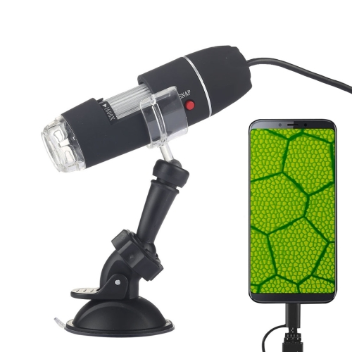 1600X Magnifier HD 0.3MP Image Sensor 2 in 1 USB Digital Microscope with 8 LED & Professional Stand usb microscope camera 5 0mp cmos calibrator digital industry c mount microscopes camera magnifier usb pcb lab inspection