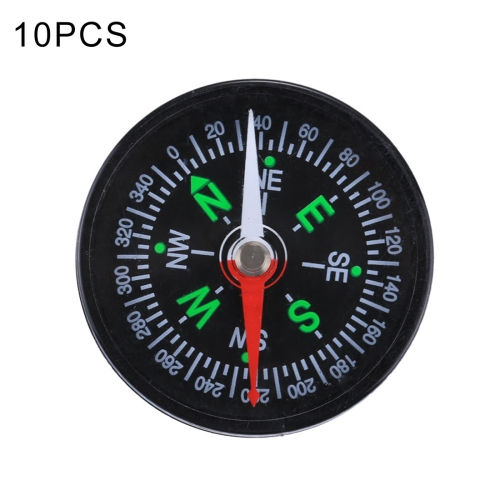 Buy 10 PCS 40mm Outdoor Sports Camping Hiking Pointer Guider Plastic Compass Hiker Navigation, Random Color Delivery for $2.63 in SUNSKY store