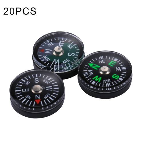 Buy 20 PCS 20mm Outdoor Sports Camping Hiking Pointer Guider Plastic Compass Hiker Navigation, Random Color Delivery for $2.59 in SUNSKY store