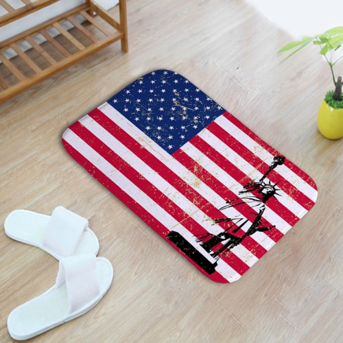 Buy US Flag Pattern Rectangular Bathroom Living Room Bedroom Door Anti-skid Household Foot Pad Carpet, Size: 40cm x 60cm for $3.31 in SUNSKY store