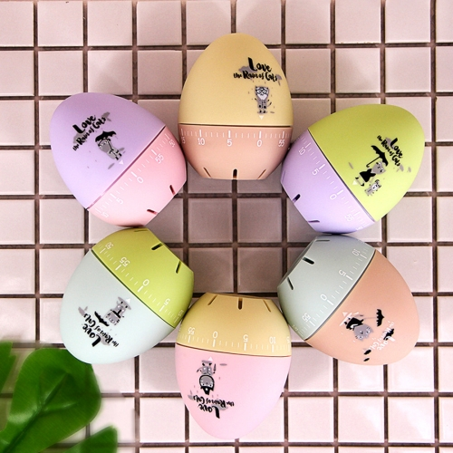 Buy Cute Cartoon Mechanical Egg Kitchen Timer Alarm Clock Students Learn Time Management Machines,Random Color Delivery for $3.16 in SUNSKY store