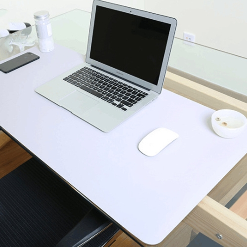 Multifunction Business Double Sided PVC Leather Mouse Pad Keyboard Pad Table Mat Computer Desk Mat, Size: 90 x 45cm(Silver Grey)
