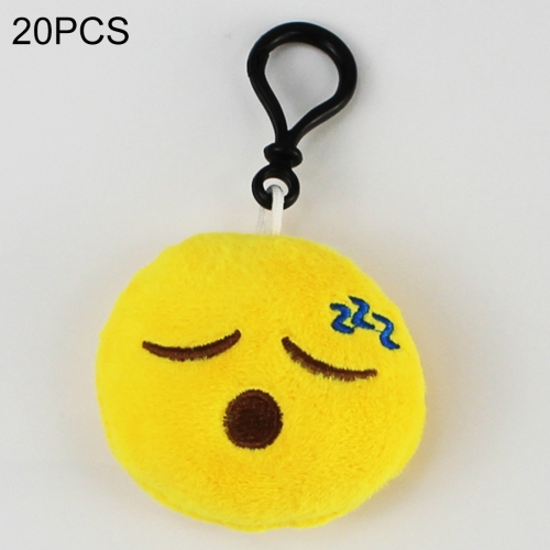Buy 20 PCS Creative Plush Doll Mobile Pendants Gift Cartoon Cute Facial Expression Decorations Keychains with Hook for $5.17 in SUNSKY store