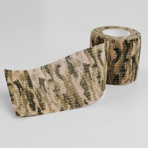 Outdoor Self Adhesive Non Woven Camouflage Wrap Rifle Hunting Shooting Cycling Tape Waterproof Camo Stealth Tape, Length: 4.5m color choose 5cm 5m waterproof anti slip tape cinta pvc self adhesive tape non slip tape for floor kitchen stairs bathroom