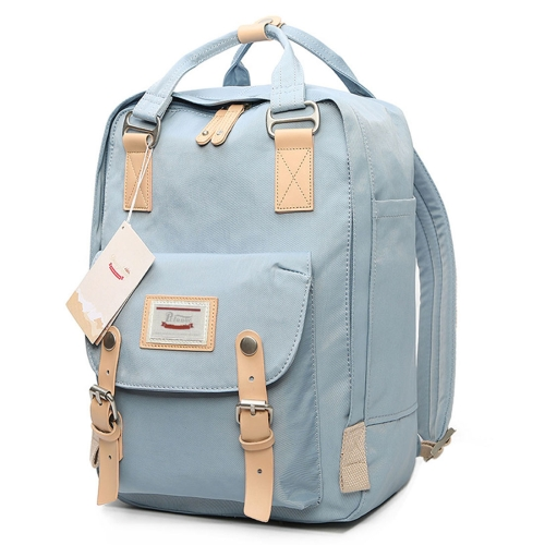 Fashion Casual Travel Backpack Laptop Bag Student Bag with Handle, Size: 38*28*15cm(Baby Blue) the new women s one shouldered han edition trend casual fashion student tassel backpack
