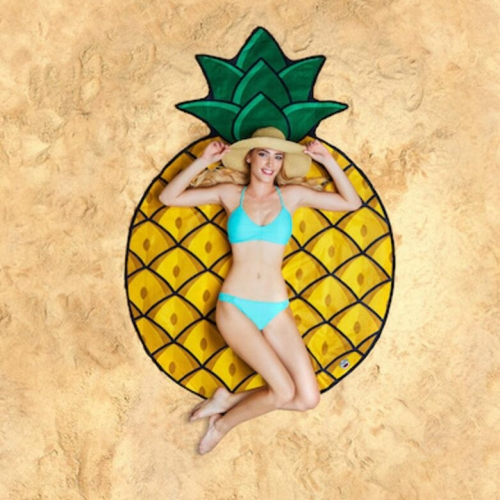 Buy Pineapple Pattern Printed Summer Bath Towel Sand Beach Towel Shawl Scarf, Size: 150x150cm for $4.84 in SUNSKY store