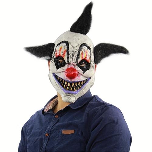 1 Pcs Halloween Mask Durable Clown Pattern Scary Festival Headpiece