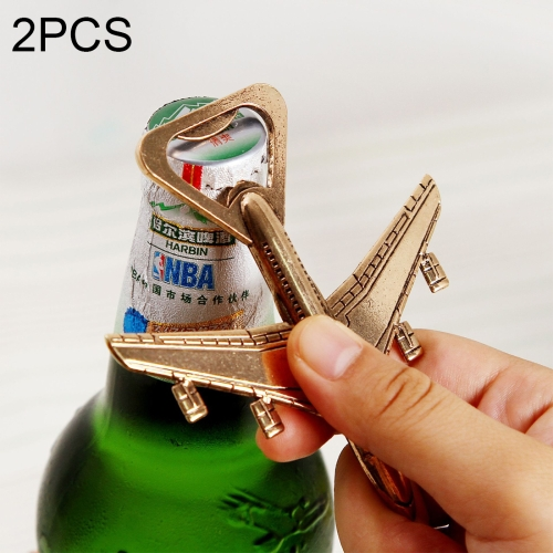 Buy 2 PCS Alloy Plane Design Beer Bottle Opener Best Wedding Gift and Party Favors for $2.36 in SUNSKY store