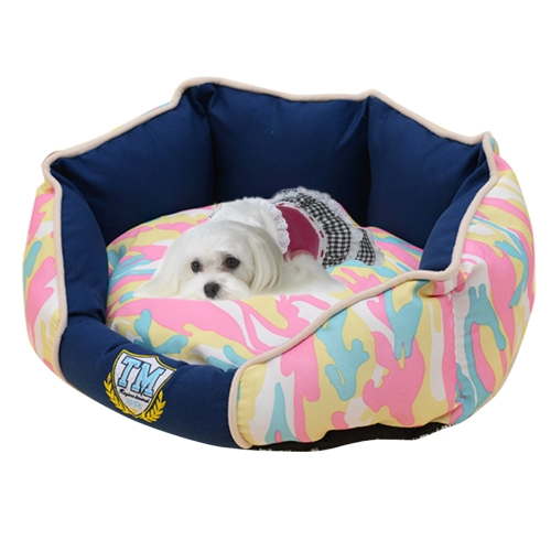 Buy Fashion Camouflage Fully Washable Pet House Nest, Small Size: 50.0x40.0x22.0cm, navy for $10.23 in SUNSKY store