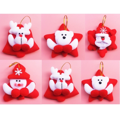 Buy 6 PCS Christmas Tree Decoration Cloth Hang Ornament with Lanyard, Random Style Delivery for $2.55 in SUNSKY store