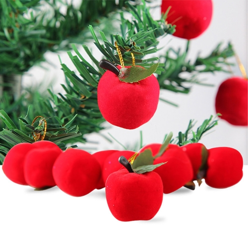 Buy 12 PCS Christmas Tree Decoration Red Apple Hang Ornament with Lanyard for $1.35 in SUNSKY store