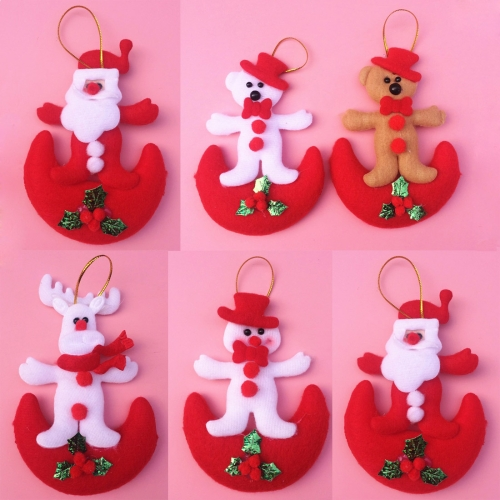 Buy 6 PCS Christmas Tree Decoration Hang Ornament with Lanyard, Random Style Delivery for $2.74 in SUNSKY store