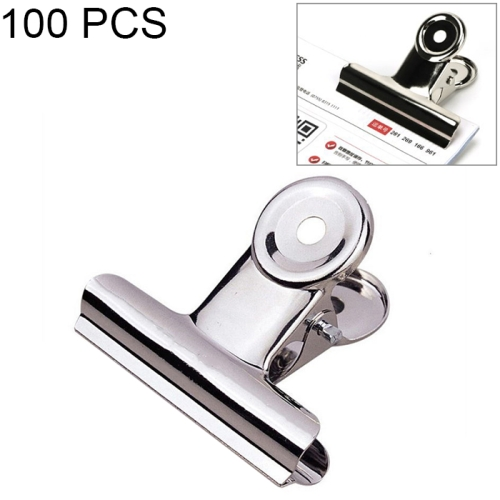 100PCS 22mm Silver Metal Stainless Steel Round Clip Notes Letter Paper Clip Office Bind Clip