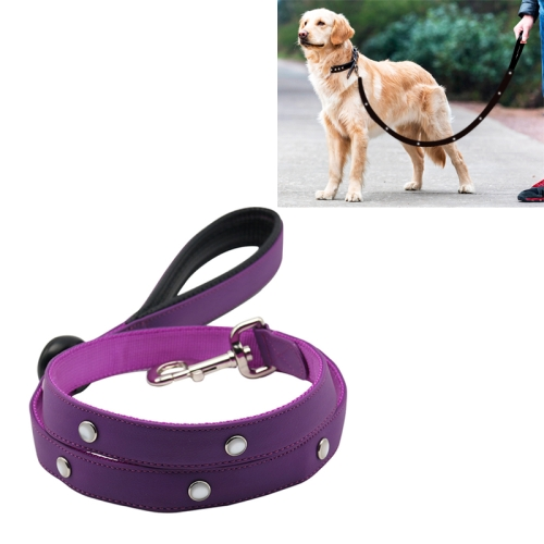 Buy PVC Webbing Material Waterproof LED Light Traction Belt Pet Dogs Traction Rope with Handle, Suitable For Medium and Large Dogs, Rope Length: 120 cm, Purple for $17.78 in SUNSKY store