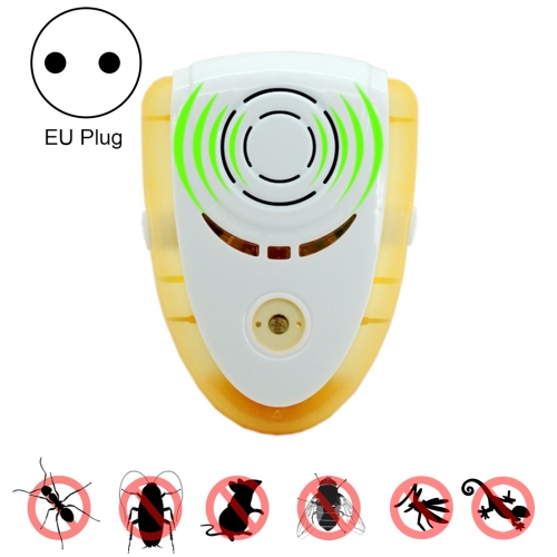 Buy 6W Electronic Ultrasonic Electromagnetic Wave Anti Mosquito Rat Insect Pest Repeller with Light, EU Plug, AC 90-240V, Yellow for $6.67 in SUNSKY store