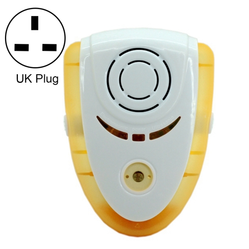 Buy 6W Electronic Ultrasonic Electromagnetic Wave Anti Mosquito Rat Insect Pest Repeller with Light, UK Plug, AC 90-240V, Yellow for $6.96 in SUNSKY store