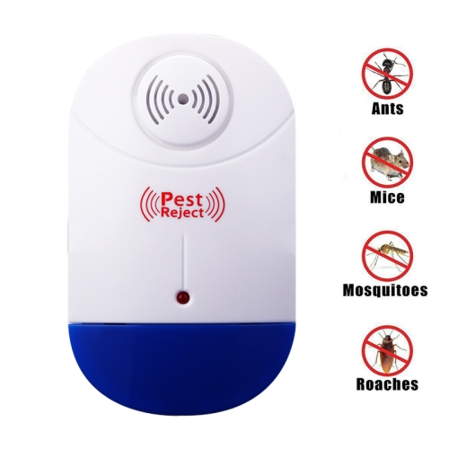 Buy Electronic Ultrasonic Mosquito Rat Pest Control Repeller with LED Light, US Plug, AC90V-250V (White+Blue) for $3.84 in SUNSKY store