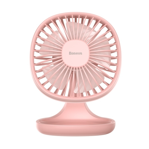 Baseus CXBD-02 Portable Mini 3-level Speed Mode USB Fan Desktop Mute Fan (Pink)
