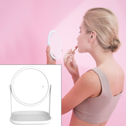 RK36 Multi-function Touch Switch Retractable Makeup Mirror Desk Lamp (White)