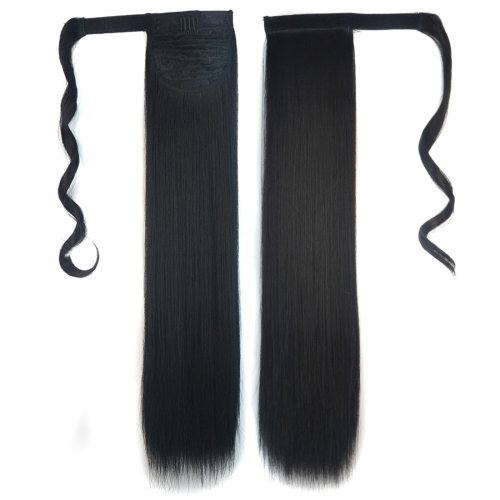 1B# Invisible Seamless Bandage-style Wig Long Straight Hair Wig Ponytail