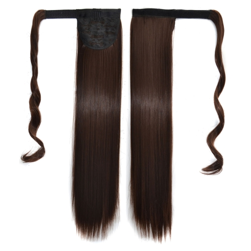 10# Invisible Seamless Bandage-style Wig Long Straight Hair Wig Ponytail