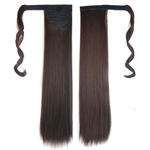 2M33# Invisible Seamless Bandage-style Wig Long Straight Hair Wig Ponytail