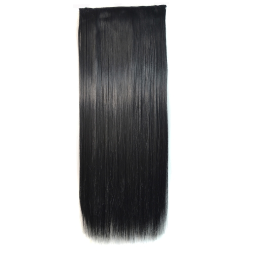 1# One-piece Seamless Five-clip Wig Long Straight Wig Piece
