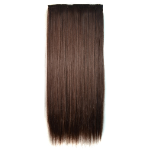 6# One-piece Seamless Five-clip Wig Long Straight Wig Piece