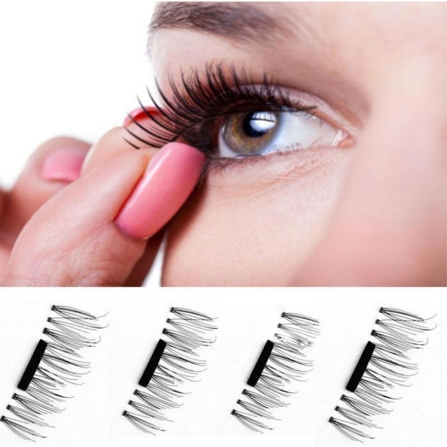 4 PCS 3D Magnetic False Eyelashes Eye Beauty Makeup Accessories Eye Lashes Extension Tools, 02#, Eyelash Length 1.5cm