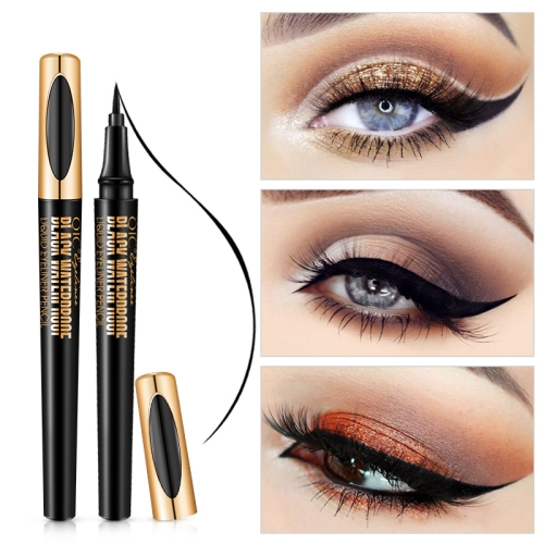 QIC Q611 Black Liquid Eyeliner 24h Long-lasting Waterproof Eye Liner