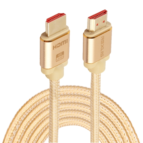 Buy 5m HDMI 2.0 Version 4K 1080P Aluminium Alloy Shell Line Head Gold-plated Connectors HDMI Male to HDMI Male Audio Video Adapter Cable for $6.73 in SUNSKY store